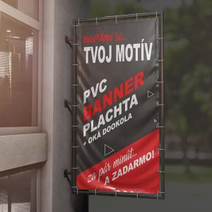 PVC banner - plachta s okami