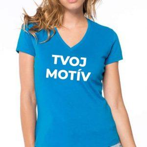 Dámske tričko FIT V-NECK