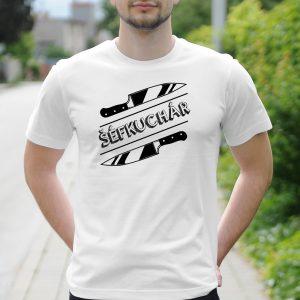Pánske tričko s potlačou šéfkuchár