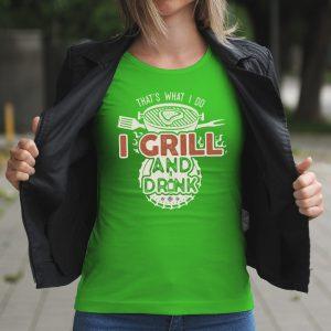 Dámske tričko s potlačou grill