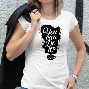 Dámske tričko s potlačou Coffe
