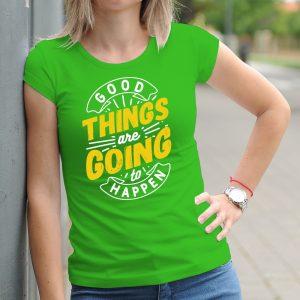 Dámske tričko s potlačou Motivation