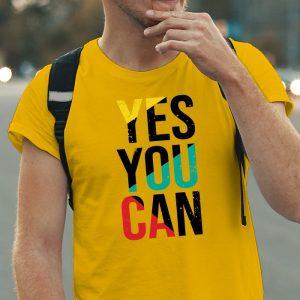 Pánske tričko s potlačou Áno môžeš