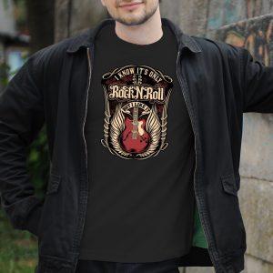 Pánske tričko s potlačou RockNRoll