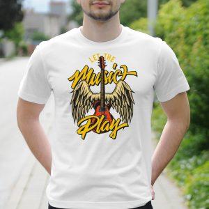 Pánske tričko s potlačou Music