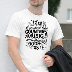 Pánske tričko s potlačou Country not music