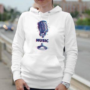 Dámska mikina s potlačou Music