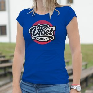 Dámske tričko s potlačou Good vibes
