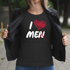 Dámske tričko s potlačou I love men