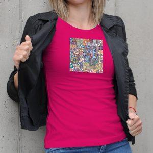 Dámske tričko s potlačou Folklórny motív