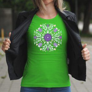 Dámske tričko s potlačou Folk