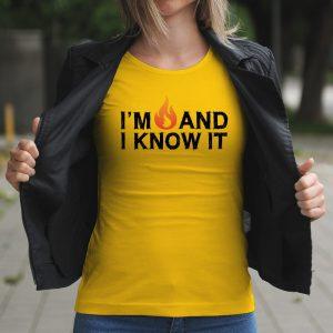 Dámske tričko s potlačou Hot