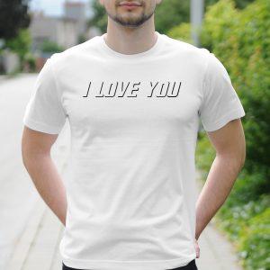 Pánske tričko s potlačou I love you