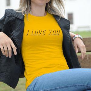 Dámske tričko s potlačou I love you