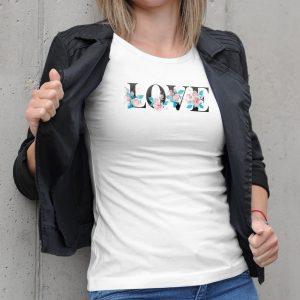 Dámske tričko s potlačou Love