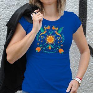 Dámske tričko s potlačou Folklór