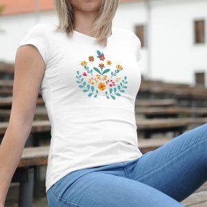 Dámske tričko s potlačou Ľudové