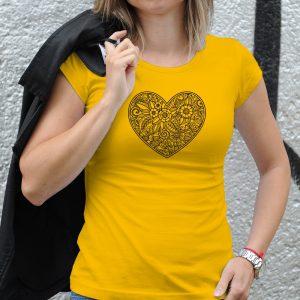 Dámske tričko s potlačou Srdce