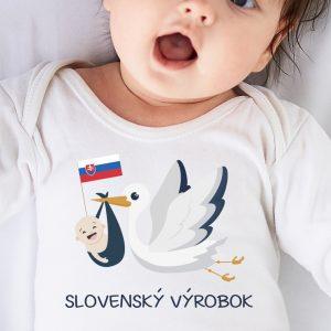 Detské body s potlačou Slovenský výrobok