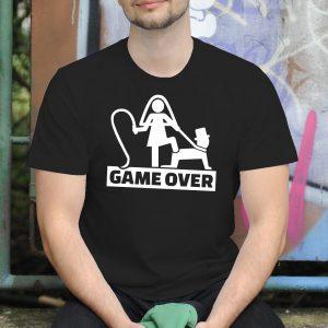 Pánske tričko s potlačou Game over