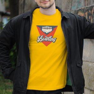 Pánske tričko s potlačou Bowlingová hra