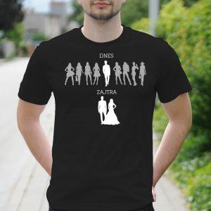 Pánske tričko s potlačou Rozlúčka