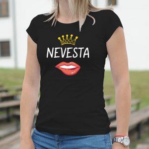 Dámske tričko s potlačou Nevesta
