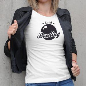 Dámske tričko s potlačou Bowling club