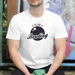Pánske tričko s potlačou Bowling