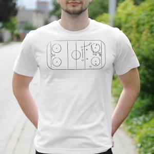 Pánske tričko s potlačou Hokejové klzisko