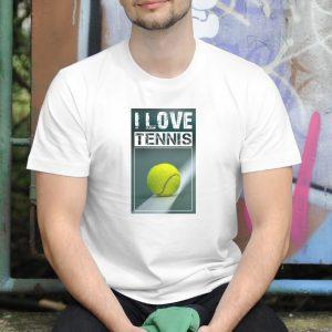 Pánske tričko s potlačou Tennis