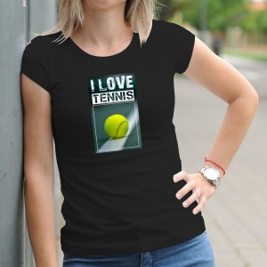 Dámske tričko s potlačou Tenis