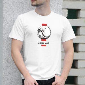 Pánske tričko s potlačou Tenisová loptička