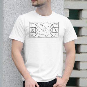 Pánske tričko s potlačou Basketball ihrisko