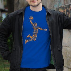 Pánske tričko s potlačou Basket