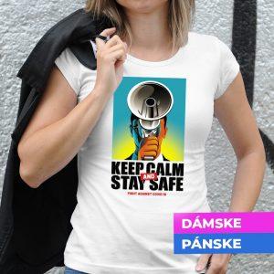 Tričko s potlačou Keep calm