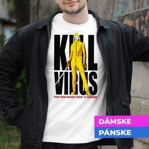 Tričko s potlačou Kill virus