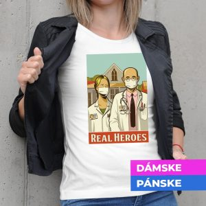 Tričko s potlačou Real Heroes