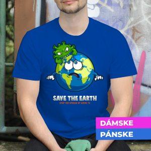 Tričko s potlačou Save the earth