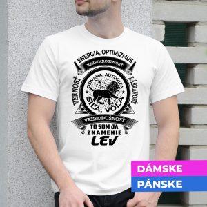 Tričko s potlačou LEV
