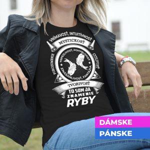 Tričko s potlačou RYBY