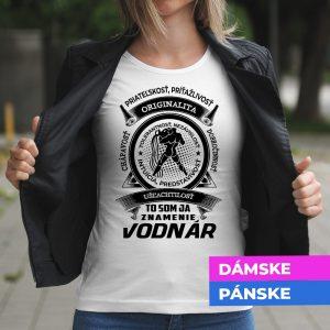 Tričko s potlačou VODNÁR