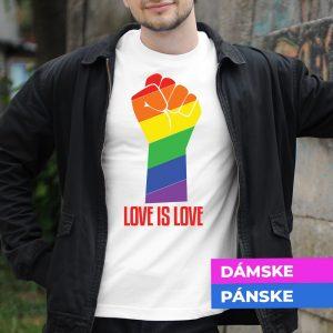 Tričko s potlačou Love is love