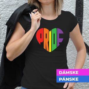 Tričko s potlačou Pride srdce