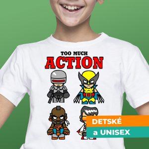 Tričko s potlačou Action