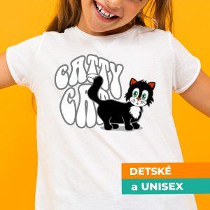 Tričko s potlačou Catty cat