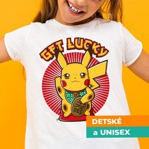 Tričko s potlačou Lucky