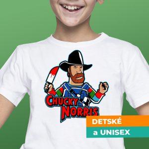 Tričko s potlačou Chucky Norris
