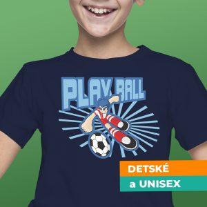 Tričko s potlačou Play ball