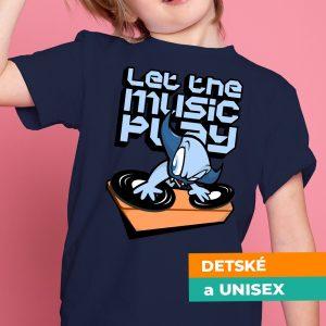 Tričko s potlačou Music